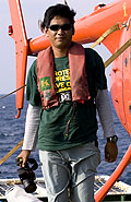 Bustar returning from one of research trips © Greenpeace/Rante