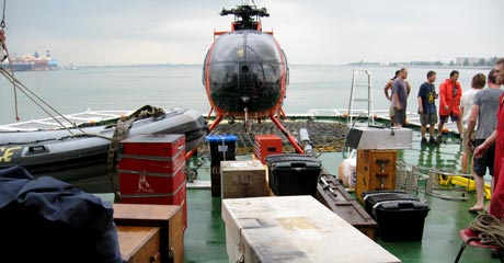 All packed up and ready to go © Greenpeace/Woolley